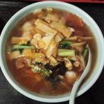 44495321 - 広東麺セット880円の広東麺/27年11月