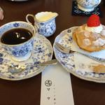 44496092 - ケーキセット(パリブレストとコーヒー)/¥600