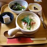 おとうふかふぇ 五六亭 - 豆乳リゾットセット(700円)