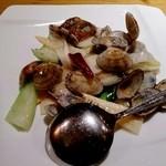 幸楽 - 浅利と季節野菜の炒め