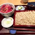蕎庵 卯のや - まぐろ膳1000円  ミニ鉄火丼とセイロ、小鉢のセット