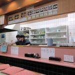 ラーメンコーナー - 店内カウンター