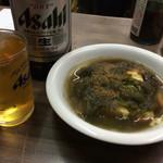 小林酒店直売所 - 昆布豆腐とビール