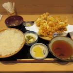 天ぷら すぎ山 - かき揚げ定食