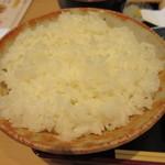 天ぷら すぎ山 - ご飯は大盛無料です