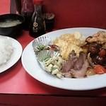 ます - 肉団子定食