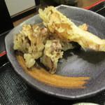 お清水 - 天空御膳の舞茸天ぷらは大きい