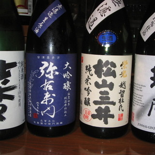 希少地酒が充実!300円~御用意しております!