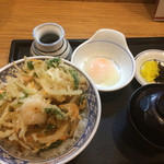 うどんウエスト - かき揚げ天丼