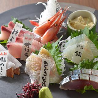 【うらら名物】熟成魚と鮮魚の盛合せ