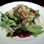 朱白 - 千葉三元豚のリエット・野菜いろいろのボリュームサラダ