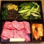 和牛カルビ定食(肉大盛り)