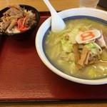 8番らーめん - 野菜らーめん、チャーシュー丼