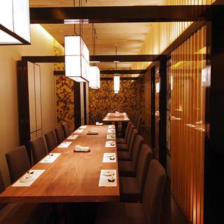 銀座のお寿司屋さんで、最大26名までお受けできるのは当店だけです。
