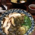 いけや食堂 - 松茸と酢橘の昆布うどん