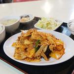 天安門 - 豚肉の四川風炒め定食