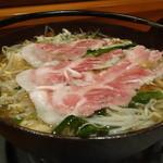 天乃じゃく - ☆和風出汁の豚鍋も美味しゅうございます(●^o^●)☆