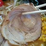 44527631 - 上・淡麗味噌麺¥637のチャーシュー(H27.11.16撮影)