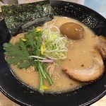 福島壱麺 - 豚骨ラーメン(700円)+半熟煮玉子