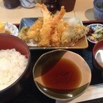 丸中 - 料理写真:天ぷら定食900円