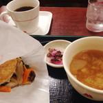 モスバーガー - 朝御膳  彩り野菜のきんぴらライスバーガー