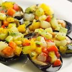 Barta - 大粒ムール貝の彩り野菜のせ