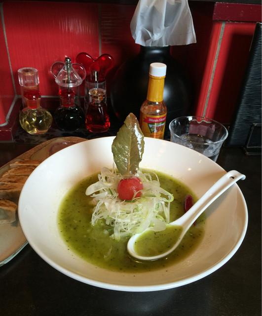 麺 藏藏 - バジルdeグリーン味噌890。