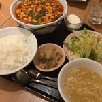 芝蘭 - 麻婆豆腐セット1,280円+大盛(200円)+