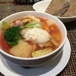 ヒッコリー - 本日のスープ+パン