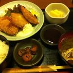 甘太郎 - 週替わり定食 ミックスフライ ¥700