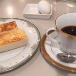 リッチ - 料理写真:モ-ニング(ト-スト)&ホットコ-ヒ-