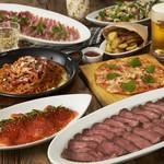 プロントイルバール - バラエティコース¥2580 お肉好きよウエルカム!選べる3種のお肉料理にカルパッチョがついてくる!