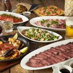 プロントイルバール - プレミアムコース¥3280 ローストビーフ、ステーキ、チキンから選べるお肉料理に、〆のゴハンまで!どこまでも至れり尽くせり!