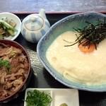 瀬戸内製麺710 - 山かけ生醤油&牛めしセット(H27011.12)