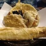 蕎麦切り 才屋 - 天麩羅。穴子天大きいです