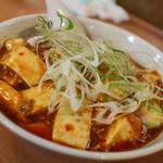 突撃ラーメン - 夜限定麻婆豆腐麺(中太麺)☆