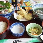 和食レストランとんでん - いわしの刺身定食