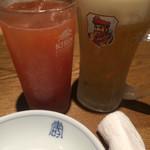 44550304 - トマト、生ビール