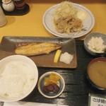 田うち - 鯖焼き定食+生姜焼き
