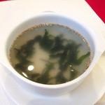 ジャルダンヴェール - わかめスープ