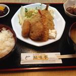 鮎味亭 - ミックスフライ定食 650円平日お昼は500円の場合も・・・