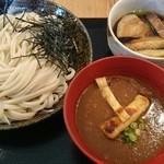 笑乃讃 - Wつけ汁うどん 大(肉汁、カレー汁)