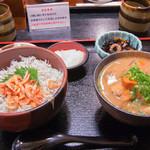 大森 茶々 - 桜海老しらす飯付きとん汁セット(1,150円)