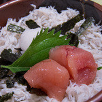 大森 茶々 - とん汁セットの明太子しらす飯