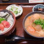 大森 茶々 - 明太子しらす飯付きとん汁セット(1,200円)