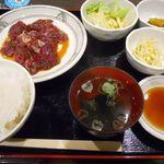東京焼肉酒場 大東苑 - 牛ハラミ焼定食