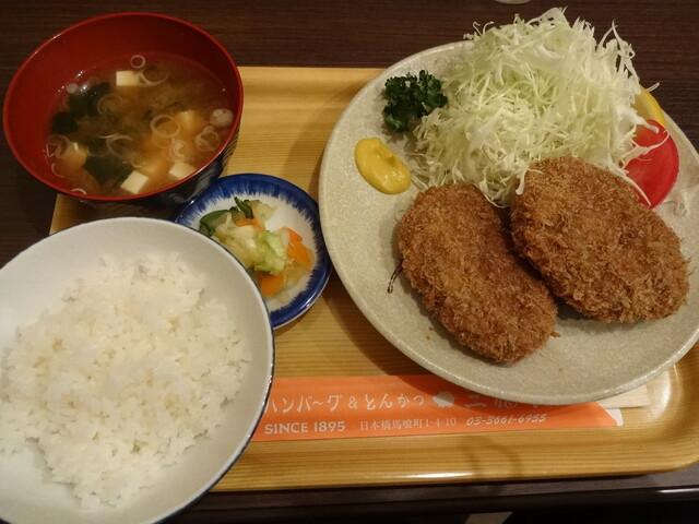 三福亭 - メンチかつ定食(15-11)