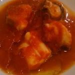ラ リベラ - 北あかりのピューレの上にタコトマト煮