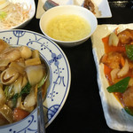 皆楽苑 - 中華飯と酢豚のランチ
