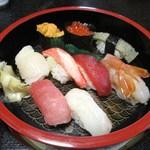 丸長寿司 - 特上握り寿司(アップ)